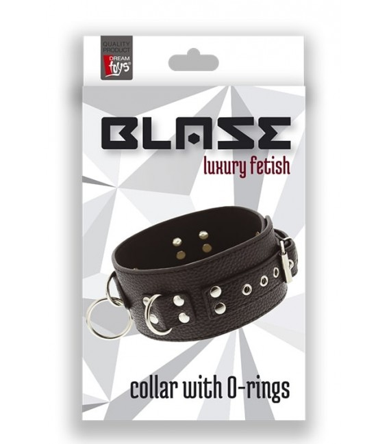 COLLAR NEGRO WITH O-RINGS BLAZE